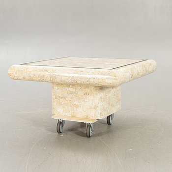 A marble mosaic coffee table later part of the 20th century.