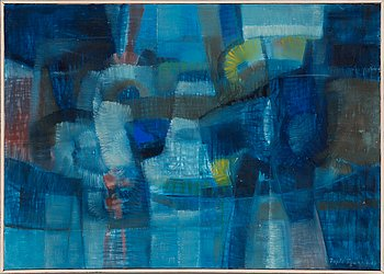 Tapio Soukka, oil on canvas, signed and dated-68.