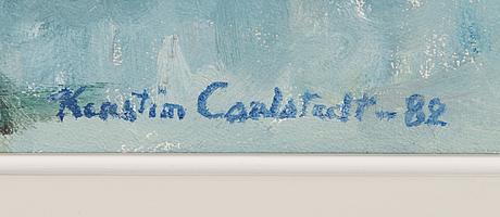 Kerstin carlstedt, olja på duk, signerad och daterad -82.