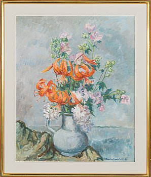 Kerstin Carlstedt, oil on canvas, signed and dated -82.
