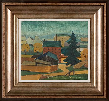 Nikolai Lehto, oil on canvas, laid on board, signed and dated -34.