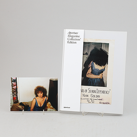 """Nan goldin, archival pigment print, signed. and a copy of aperture magazine issue #239 """"ballads""""."""