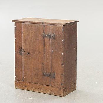 A danish 19th century oak wall cabinet.