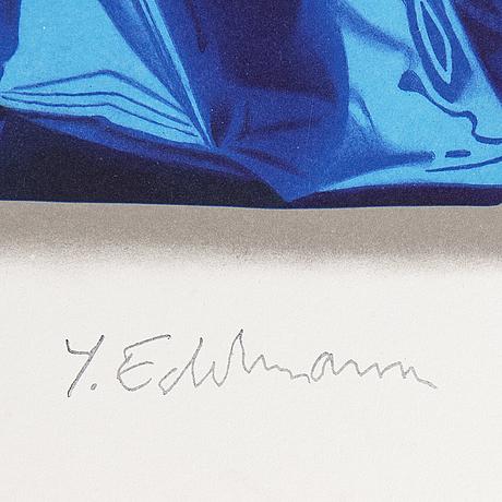 Yrjö edelmann, färglitografi, 2001, stämpelsignerad ea lxxxii/c.