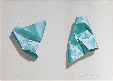 Yrjö edelmann, lithograph in colours, signed 58/99.