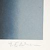 Yrjö edelmann, öithograph in colours, signed hc.
