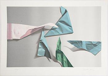 Yrjö Edelmann, färglitografi, 1983, signerad 237/250.