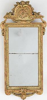 A Gustavian mirror by Carl Gustaf Fyrwald, active in Stockholm 1750-1825.