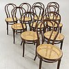 A set of ten early 1900s chairs.