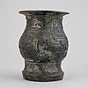 A archaistic bronze vase, ming dynasty or older.