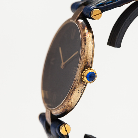 Must de cartier, vermeil, wristwatch, 30 mm.