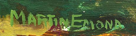 Martin emond, oil on panel signed.