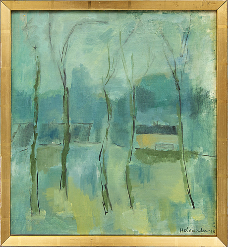 Ruben heleander, oil on canvas signed and dated 60.