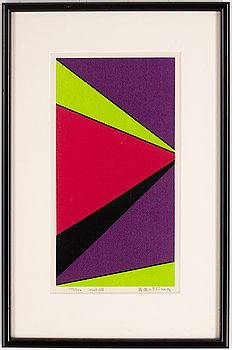 Olle Baertling, silkscreen in color, 1965-68, signed and numbered 100/300.