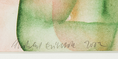 Andreas eriksson, watercolour, signed and dated 2002.