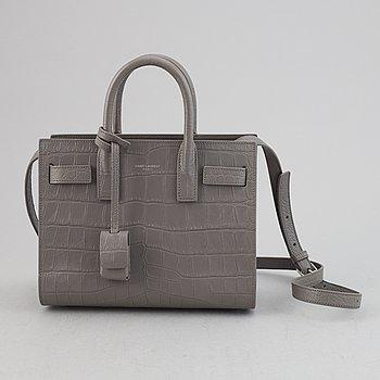 Yves Saint Laurent, a crocodile embossed 'Sac de Jour Nano' leather handbag.