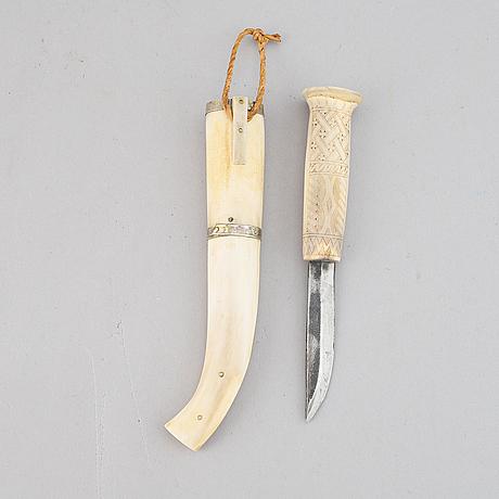 A sami reindeer antler knife, mid 20th century.