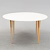 Bruno mathsson, a dining table, second half of the 20th century.