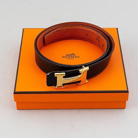 Hermès, a reversible leather belt, 2009, size 100.