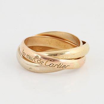 Cartier, must de Cartier, ring 'Trinity' 18K guld i tre färger.