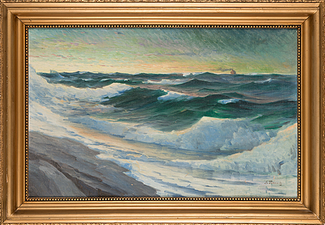 Mikael stanowsky, oil on board, signed.