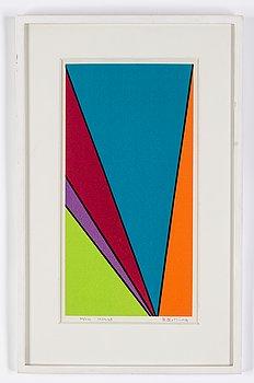 Olle Baertling, silkscreen in colours, 1959-68, signed 62/300.
