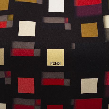 Fendi, a silk dress, italian size 42.