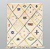 A moroccan carpet, 233 x 160 cm.