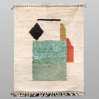 A Moroccan carpet, 244 x 162 cm.