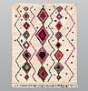 A moroccan carpet, 275 x 168 cm.