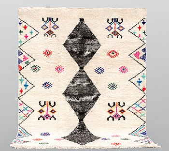 A Moroccan carpet, 233 x 170 cm.
