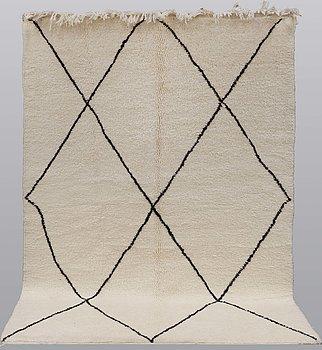 A Moroccan carpet, 243 x 165 cm.
