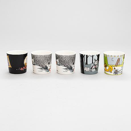 Moomin-mugs, ten porcelain, moomin characters, arabia 1996-2019.