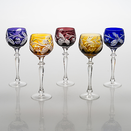 A 13-piece set of wine glasses, central europe, latter half of the 20th century.