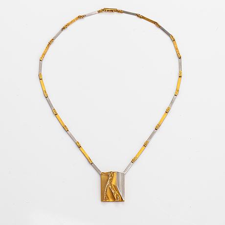 "Björn weckström, ""helios"", a 14k gold and platinum necklace. lapponia 1995."