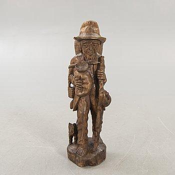 A Black forest wooden sculpture around 1900.