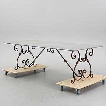 A garden table, 20th Century.