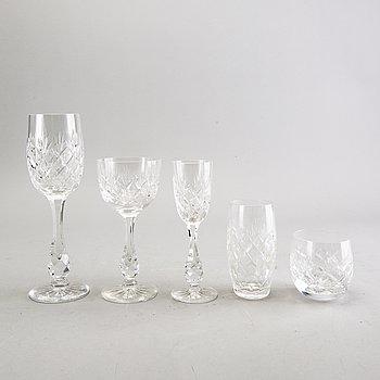 A Fritz Kallenberg 60 pcs Pompadour glass service.
