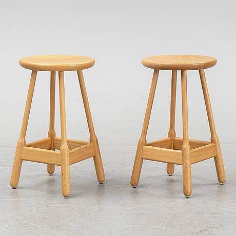 Chris martin, a set of eight contemporary oak stools, 'albert', massproductions.