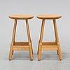 Chris martin, a set of eleven contemporary oak stools, 'albert', massproductions.