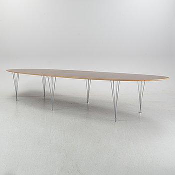 Piet Hein & Bruno Mathsson, a 'Superellips' table for Fritz Hansen, Denmark.