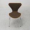 """Arne jacobsen, stolar, 8 st, """"sjuan"""", fritz hansen, danmark, 1982."""