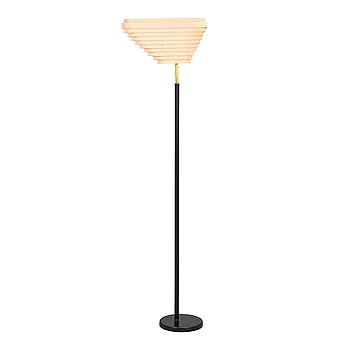 Alvar Aalto, an 'Angel's Wing' floor lamp. Manufactured by Valaistustyö.