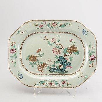 A Chinese Qianlong famille verte porcelain  serving dish.