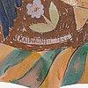 Birger kaipiainen, a stoneware decorative dish signed kaipiainen 1946 arabia.