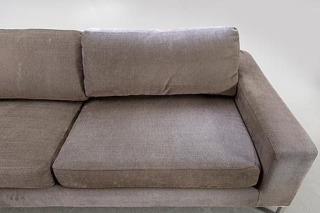 Ihreborn, sofa with footstool, contemporary.