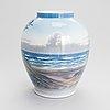 A porcelain vase for royal copenhagen 1969-1974.