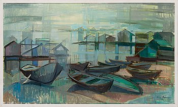 Liisa Tanner, oil on canvas, signed and dated 1965.