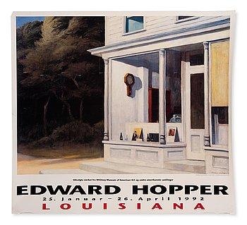 Exhibition poster, Edward Hopper, Louisiana, Danmark, Januari 25 - April 26 1992.
