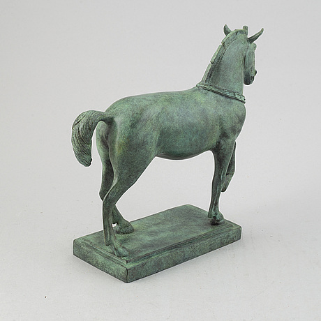 A bronze sculpture, 21st century.